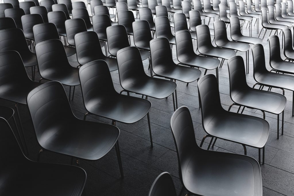 room full of chairs